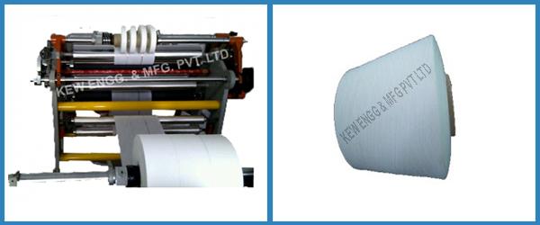 Yarn grade Slitter Rewinder Machine